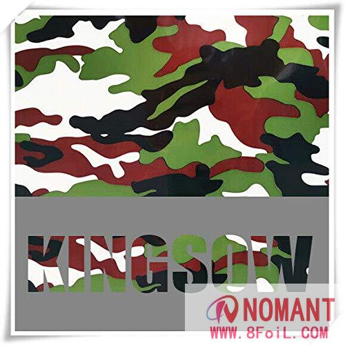 Camouflage Thermo Heat Transfer Vinyl Iron-on Textile HTV Craft Film Garment Clothing for T-Shirt Decoration